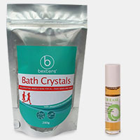 Bowtech Ease 10ml rollerball + bath crystals